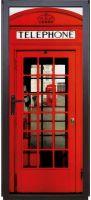 Виниловая наклейка на дверь - Телефонная будка