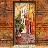 Виниловая наклейка на дверь - Южный город