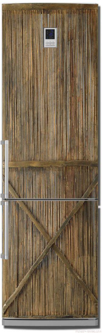 Наклейка  на холодильник - Тростник