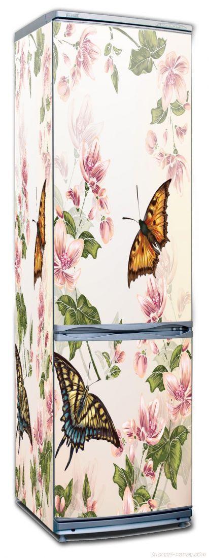 Наклейка на холодильник - Floral-2