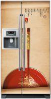 Винниловая наклейка на холодильник- Закат с острым