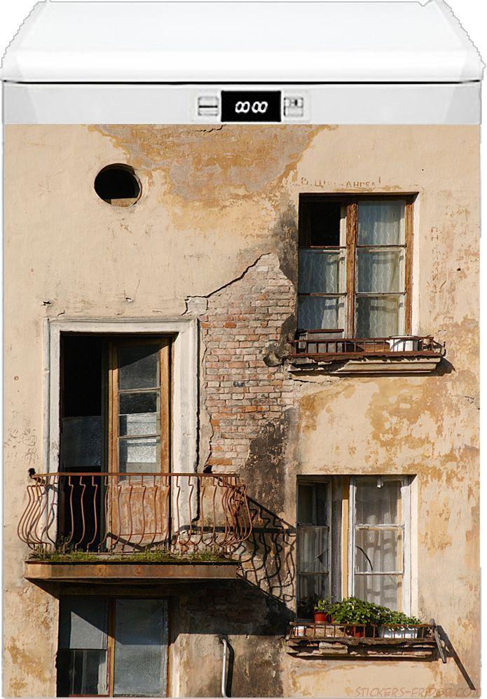 наклейка на посудомоечную машину - Балкон