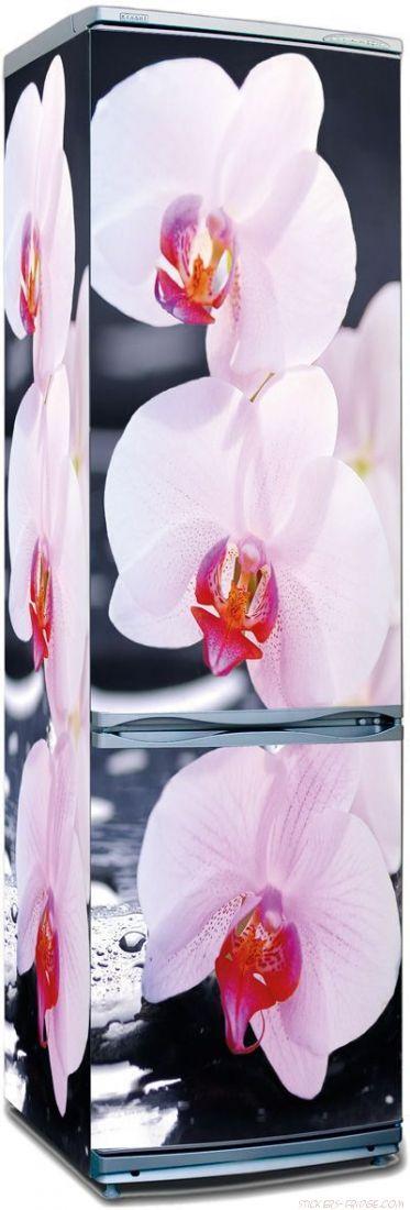 Наклейка на холодильник - SPA Орхидеи