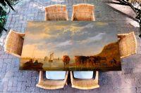 Наклейка на стол - Утро на реке | Купить фотопечать на стол в магазине Интерьерные наклейки