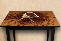 Наклейка на стол - Кофе 2. Зерна | Купить фотопечать на стол в магазине Интерьерные наклейки