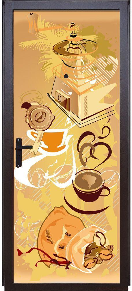 Наклейка на дверь - Кофе 1. Арабика