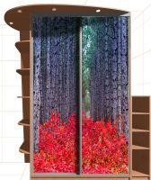 Наклейка на шкаф - Красный лес