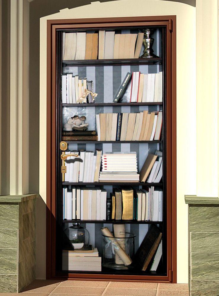 Как задекорировать дверцы книжного стеллажа.