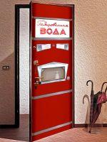Наклейка на дверь - Газированная вода. АТ-114