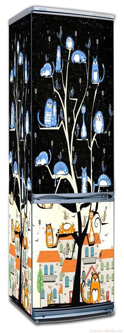 Наклейка на холодильник  - КотоВасия