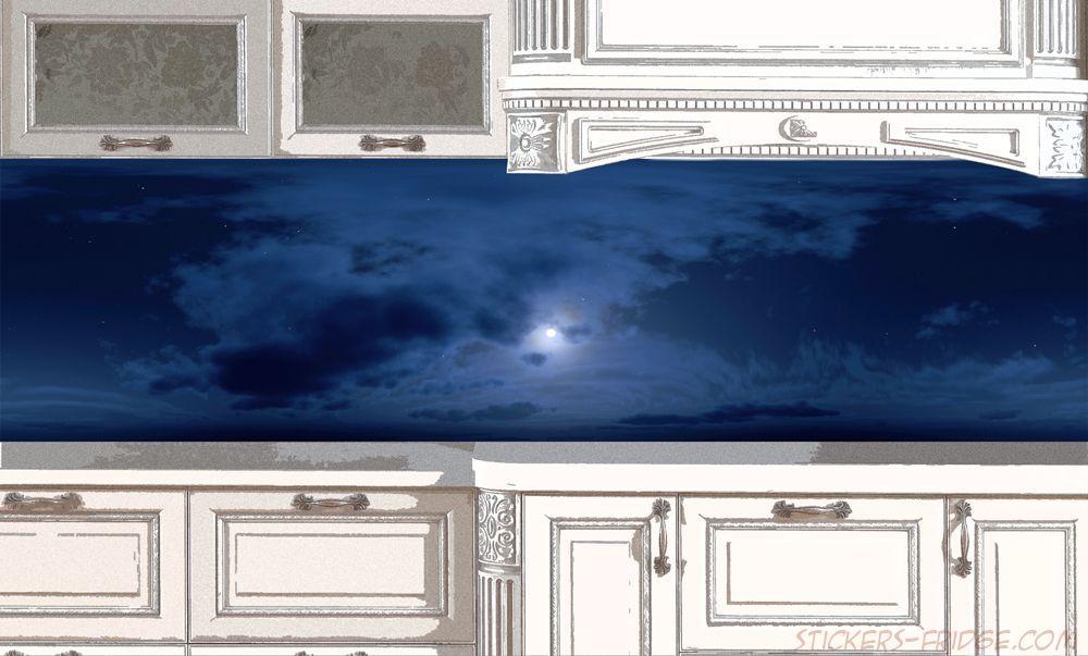 фартук для кухни, наклейка - Небо-вечер