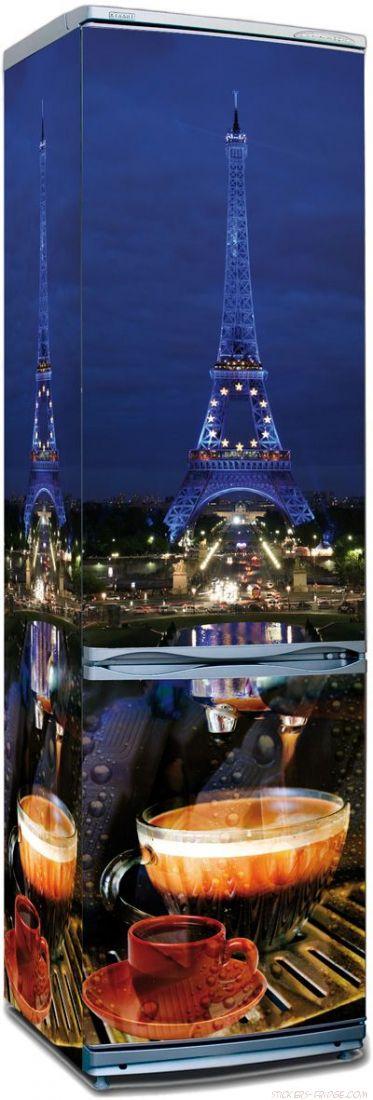 наклейки на холодильник - Paris