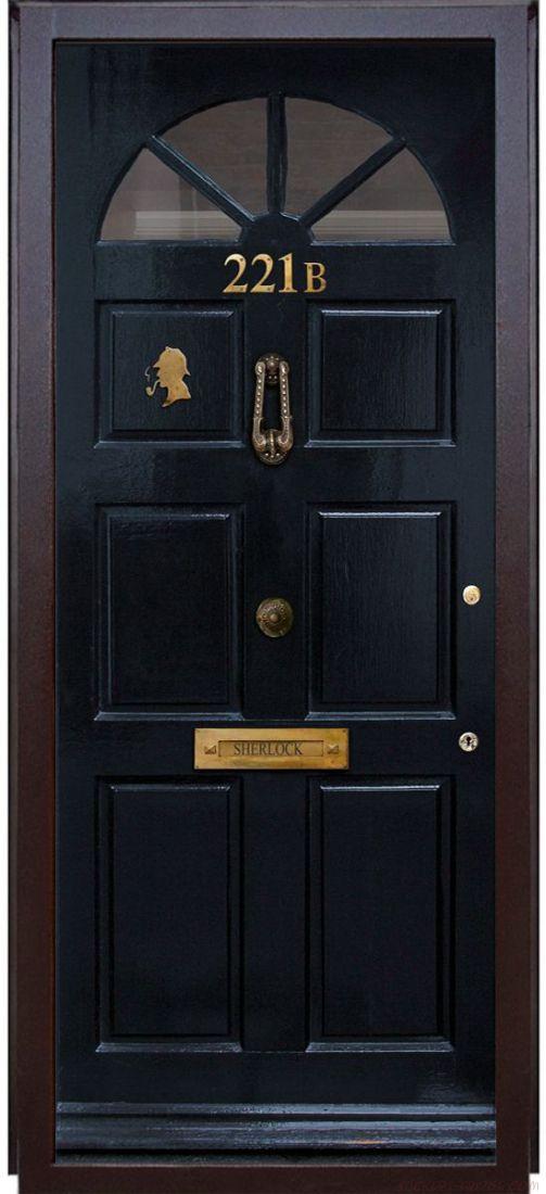 Наклейка на дверь - Шерлок 221b
