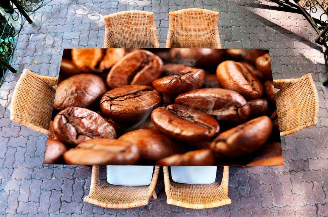 Наклейка на стол - кофе 4