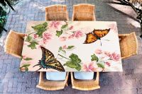 Наклейка на стол - Floral-2 | Купить фотопечать на стол в магазине Интерьерные наклейки