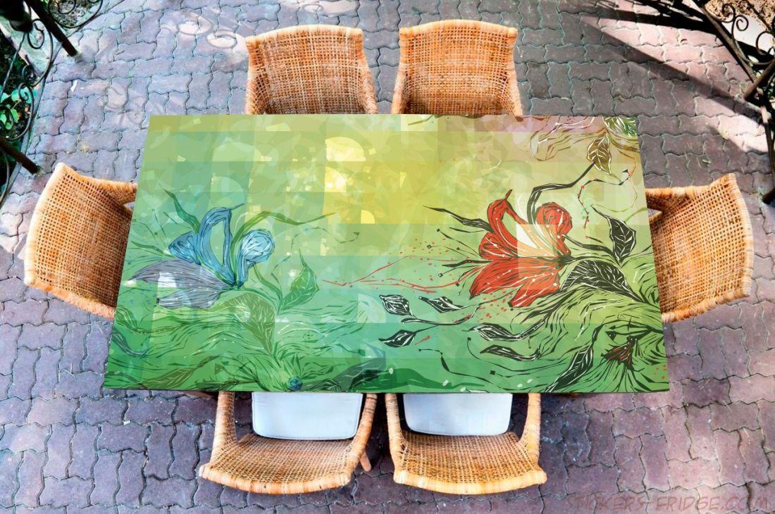 Наклейка на стол - отражение